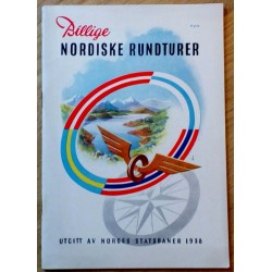 Billige Nordiske Rundturer - Utgitt av Norges Statsbaner 1938