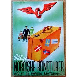 Billige Nordiske Rundturer - Utgitt av Norges Statsbaner 1939