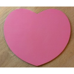 Rosa hjerteformet musematte