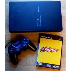 Playstation 2: Komplett konsoll med Crazy Taxi