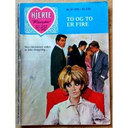 Hjerterevyen: 1974 - Nr. 47 - To og to er fire