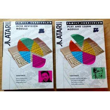 Atari ST: 2 x Family Curriculum - Play and Learn og GCSE Revision