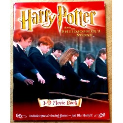 Harry Potter and The Philosopher's Stone - 3-D Movie book - Med briller!