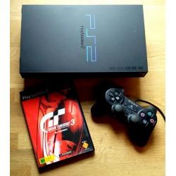 Playstation 2: Komplett konsoll med spillet Gran Turismo 3