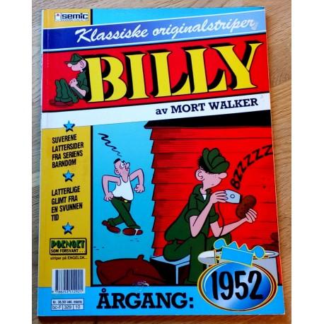 Billy - Klassiske originalstriper - Årgang 1952