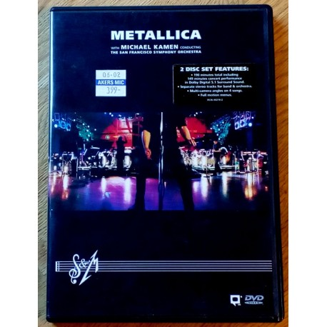 Metallica with Michael Kamen conducting The San Francisco Symphony Orchestra (DVD)