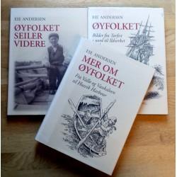 3 bind av Øyfolket (Øyfolket seiler videre, Mer om øyfolket, Øyfolket) av Eie Andersen