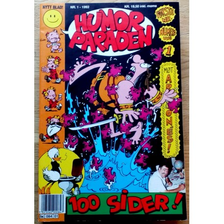 Humorparaden 1992 - Komplett årgang med bladene 1 til 8