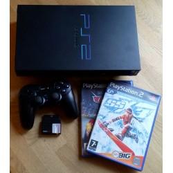 Playstation 2: Komplett konsoll med trådløs håndkontroll