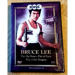 3 filmer med Bruce Lee - The Big Boss, Fist of Fury, Way of the Dragon (DVD)