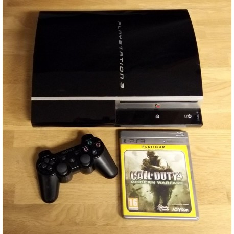 Playstation 3: Komplett konsoll med Call of Duty 4 - Modern Warfare