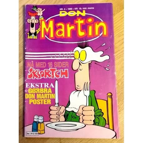 Don Martin - 1989 - Nr. 2 - Nå med 16 sider Sklortch