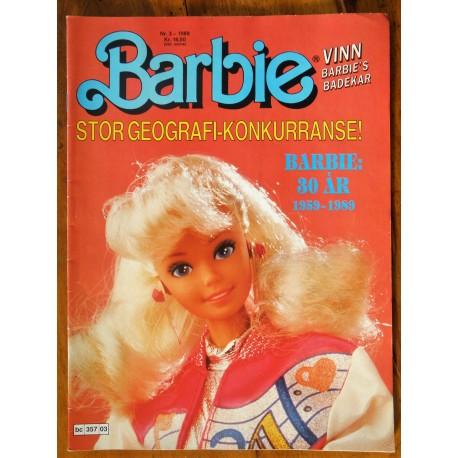 Barbie- Nr. 3- 1989- Med poster