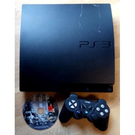Playstation 3 Slim - 120 GB - Komplett konsoll med Crysis 2