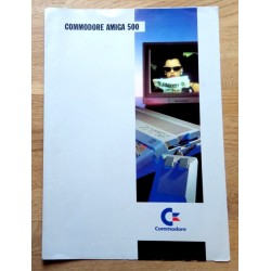 Commodore Amiga 500 - Reklamebrosjyre med prisliste