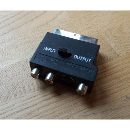 Composite og S-Video til SCART adapter