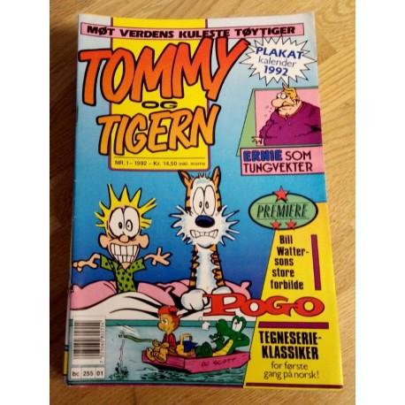 Tommy & Tigern 1992 - Komplett årgang med bladene 1 til 12