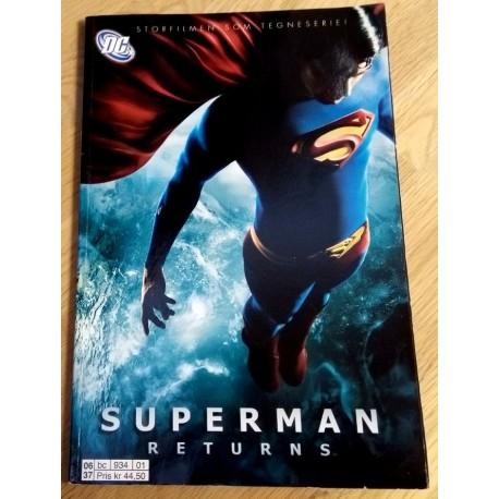 Superman Returns - Storfilmen som tegneserie!