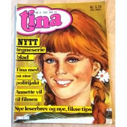 Tina: 1981 - Nr. 4 - Tina med på stor politijakt