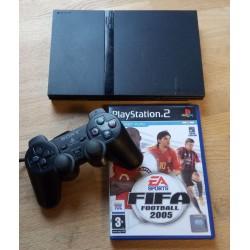Playstation 2 Slim: Komplett konsoll med spill