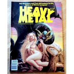 Heavy Metal - 1989 - July - Hot Romance and Fast Adventure in the Return of Dieter Lumpen!