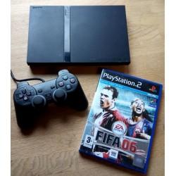 Playstation 2 Slim: Komplett konsoll med FIFA 06