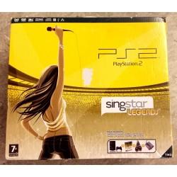 Playstation 2 Slim - Singstar Legends - I original eske