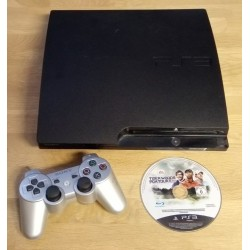 Playstation 3 Slim - 298 GB - Komplett konsoll med Tiger Woods PGA Tour 14