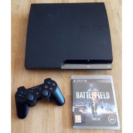 Playstation 3 Slim - 120 GB - Komplett konsoll med Battlefield 3