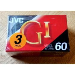 3 x JVC 60 minutters kassetter - Nye