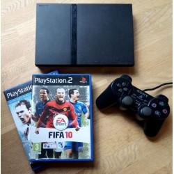 Playstation 2 Slim: Komplett konsoll med to spill