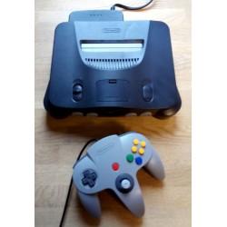 Nintendo 64 - Komplett konsoll med utstyr