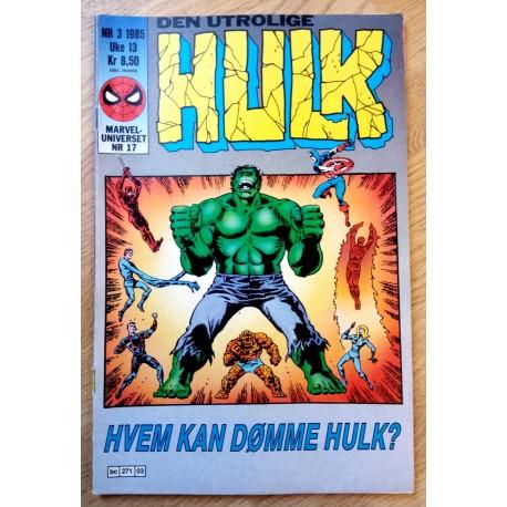 Marveluniverset: 1985 - Nr. 3 - Hvem kan dømme Hulk?