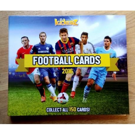 Kickerz Football Cards 2016 - Album med ca. 90 kort!