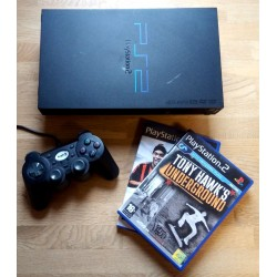 Playstation 2: Komplett konsoll med to spill