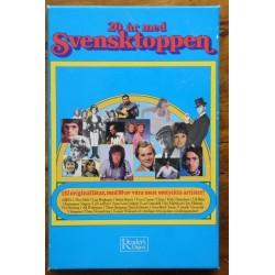 20 år med Svensktoppen- 4 kassetter i boks