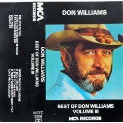 Don Williams- Best of Vol III