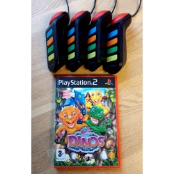 4 x Buzz kontroller med Buzz! Junior - Dinos - Playstation 2