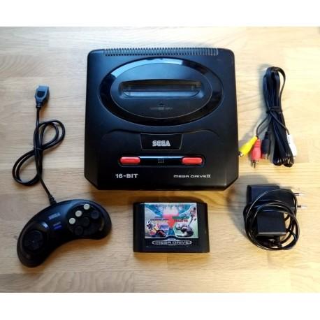 SEGA Mega Drive II - Komplett konsoll med spill