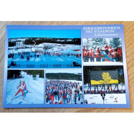Postkort: Birkebeineren Skistadion - Lillehammer