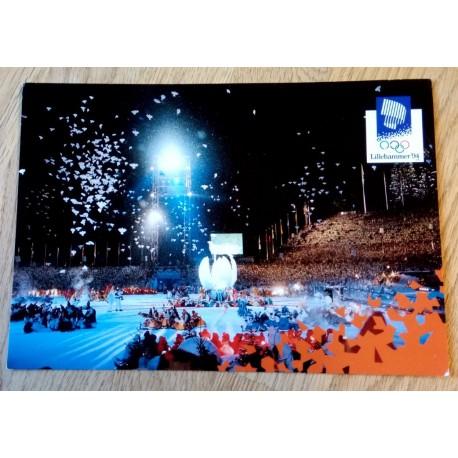Postkort: Lillehammer 1994 - Åpningsseremonien