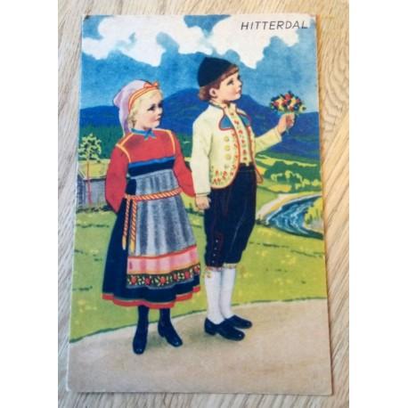 Postkort: Norges Bunadkort - Hitterdal - Serie nr. 20