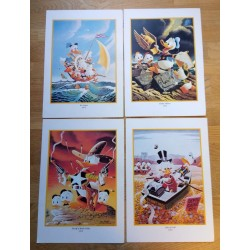 Disney - 4 x Donald-plakter