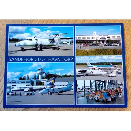 Postkort: Sandefjord Lufthavn Torp