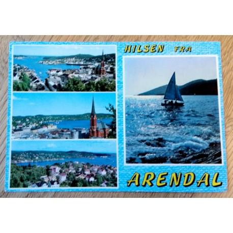 Postkort: Hilsen fra Arendal