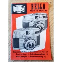 Bilora - Bella Mod. 44 - Mod. 46 - Bruksanvisning