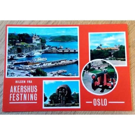 Postkort: Oslo - Hilsen fra Akershus Festning