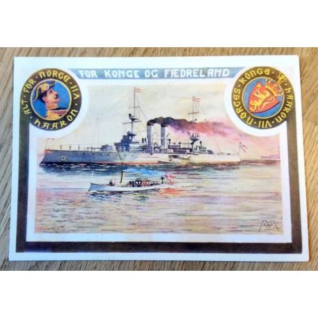 Postkort: For Konge og Fædreland - Etter originalt postkort fra 1905