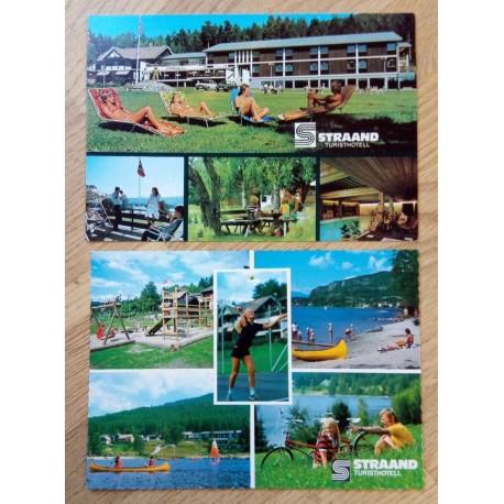 Postkort: 2 x Straand Turisthotell - Vrådal