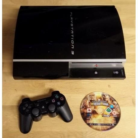 Playstation 3: Komplett konsoll med WWE Legends of WrestleMania